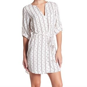 Collective Concepts Printed Tie Shirtdress